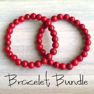 Gemstone bracelet stretch Bundle Lot natural new
